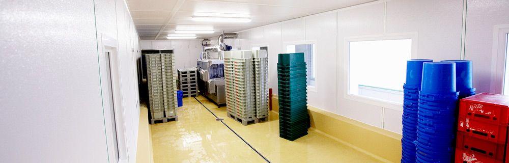 Ein Wand Und Deckensystem Aus Glasfaserverstarktem Kunststoff