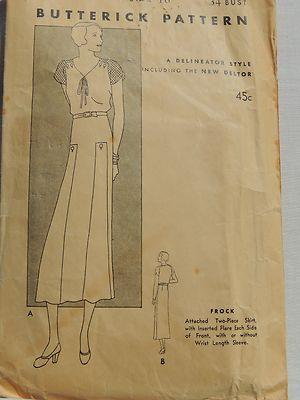 30s Dress Pattern