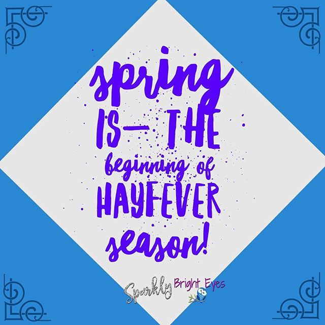 Who else is unfortunate enough to get hayfever? Spring always signals the start for my allergies, which rarely settle down before Autumn.  #springthings #hayfeverseason