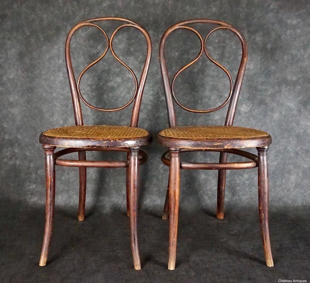 Authenticated By Thonet, Rare Pair Of No. 1 Bentwood Chairs Dated To  Between 1866   These U0027Stuhl Nr Have The Original Thonet Label Photos And  Info.