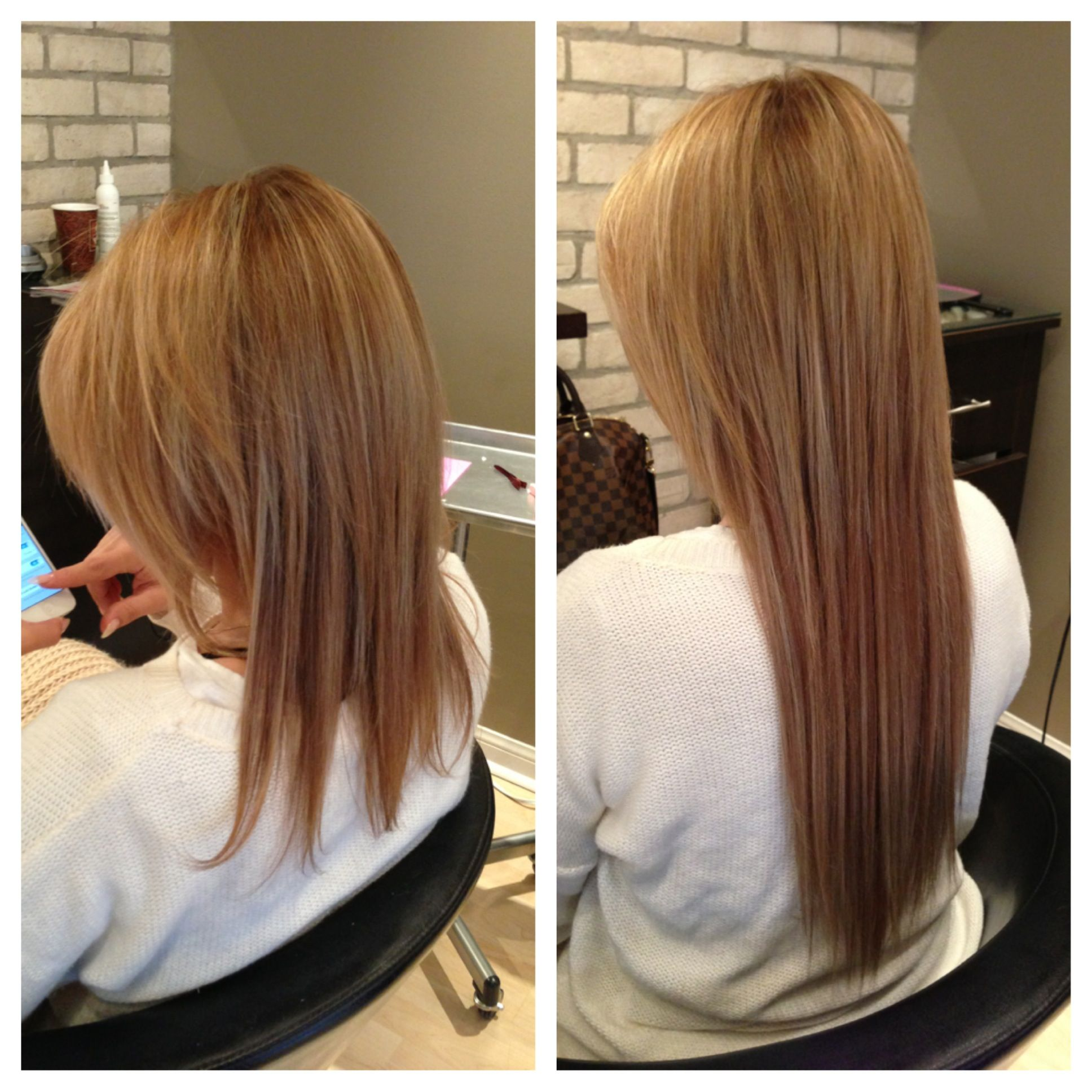Before After Fusion Hair Extensions Hair Pinterest Fusion
