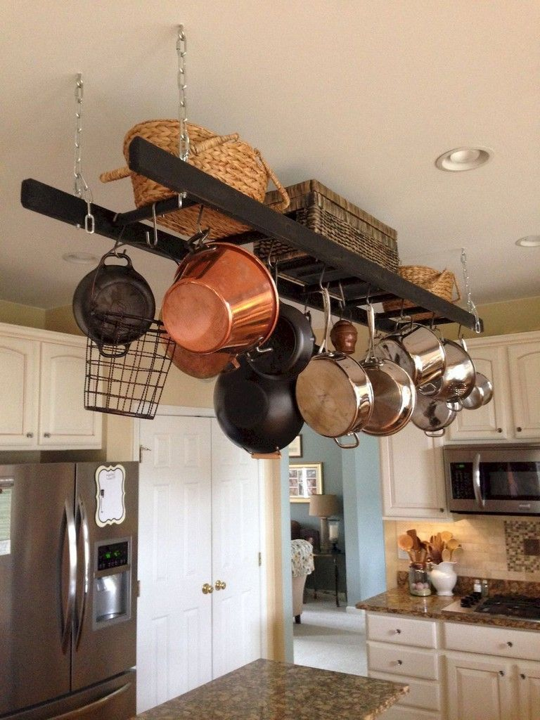 marvelous hanging rack kitchen decor ideas kitchen pinterest
