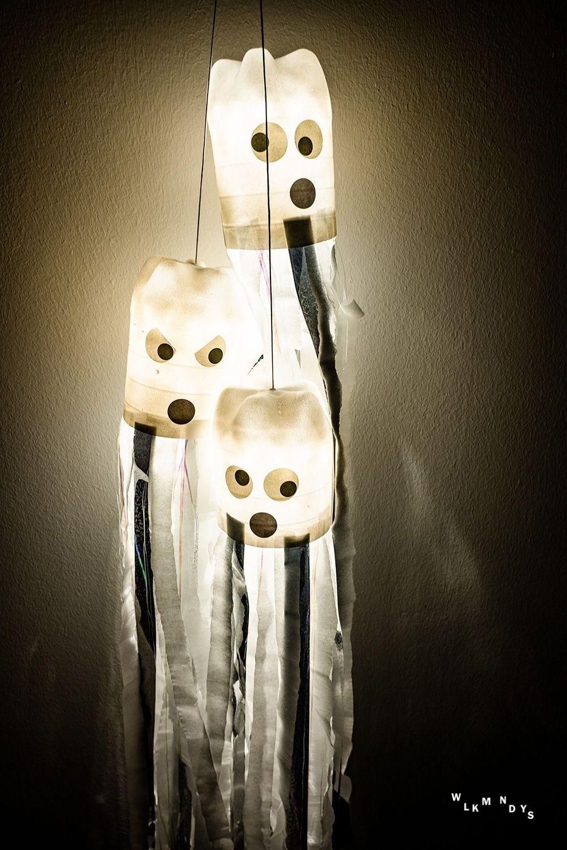 Upcycling Gespensterschwarm für Halloween basteln