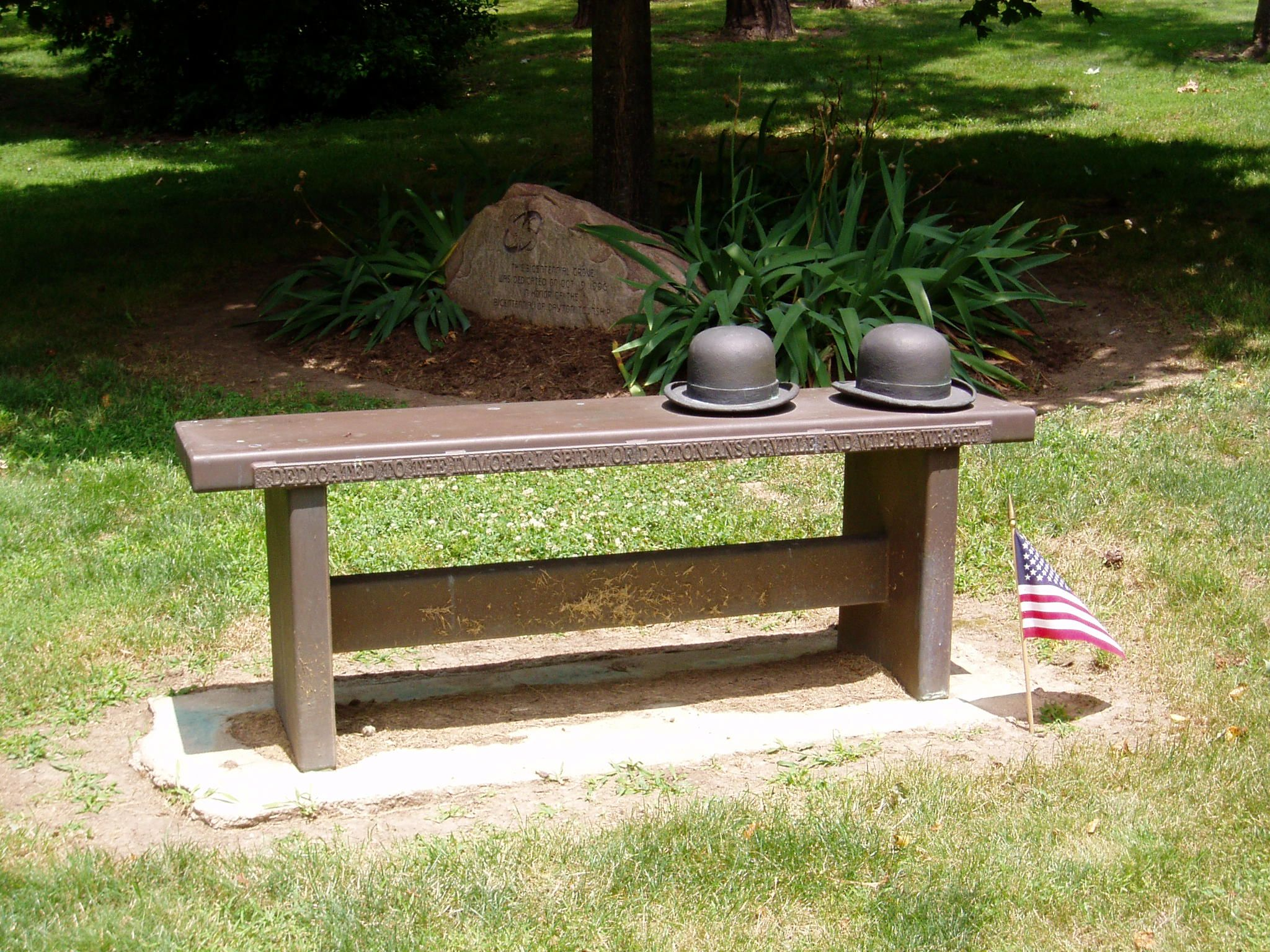 Tribute to the Wright Brothers, Woodland Cemetery and ...