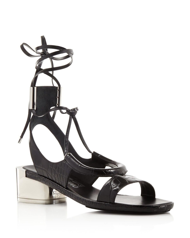 Leather GLORJA Sandals With Mirror Heel Spring/summer Salvatore Ferragamo HLsyWSi