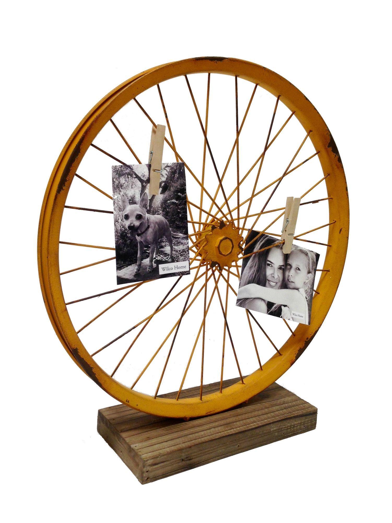 Metal Bike Wheel Table Art Sculpture | Manualidades fáciles, Ruedas ...