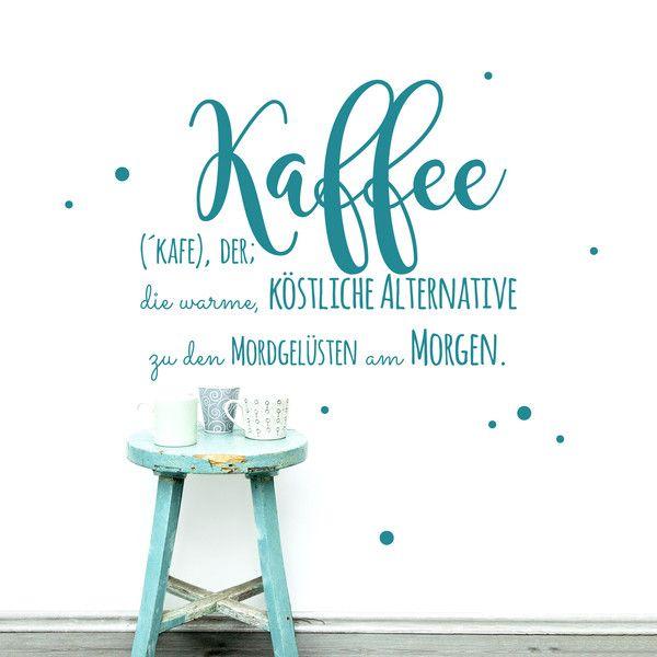 Wandtattoo Wandaufkleber Kaffee Cafe Küche M1897 - wandtattoos küche kaffee
