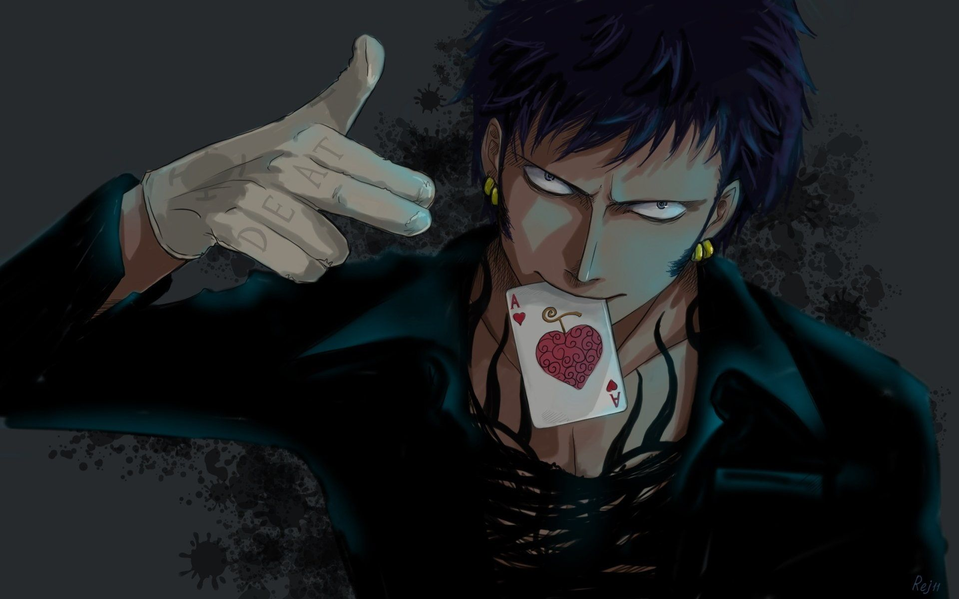 Black Haired Male Anime Character Wallpaper Anime One Piece Trafalgar Law 1080p Wallpaper Top Anime Characters Character Wallpaper Trafalgar Law Wallpapers
