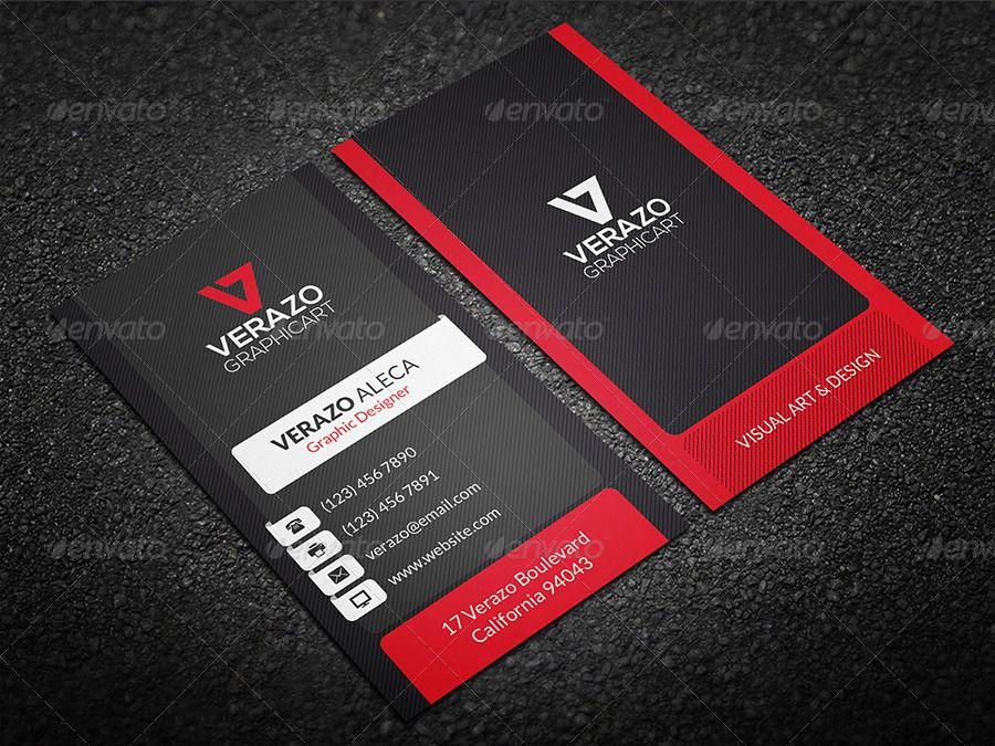 Creative Modern Business Card 24 Ad Modern Sponsored Amp Creative Card Modern Business Cards Vertical Business Cards Buy Business Cards
