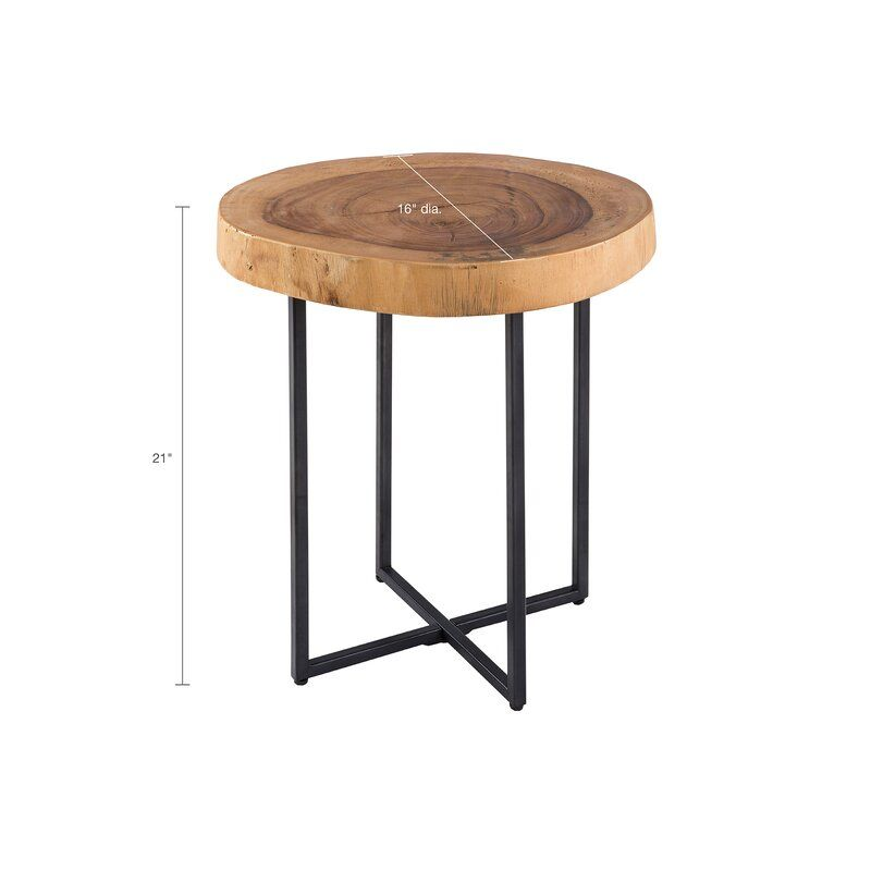 Maclennan Solid End Table Metal End Tables Wood End Tables