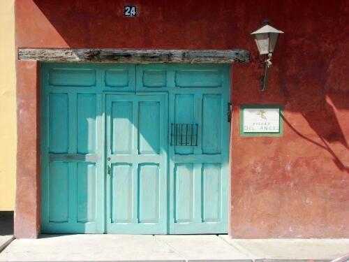 Posada del Angel carriage door pedestrian door and Judas hole | D O O R S u0026 windows | Pinterest | Carriage doors Caribbean and Doors & Posada del Angel carriage door pedestrian door and Judas hole ...