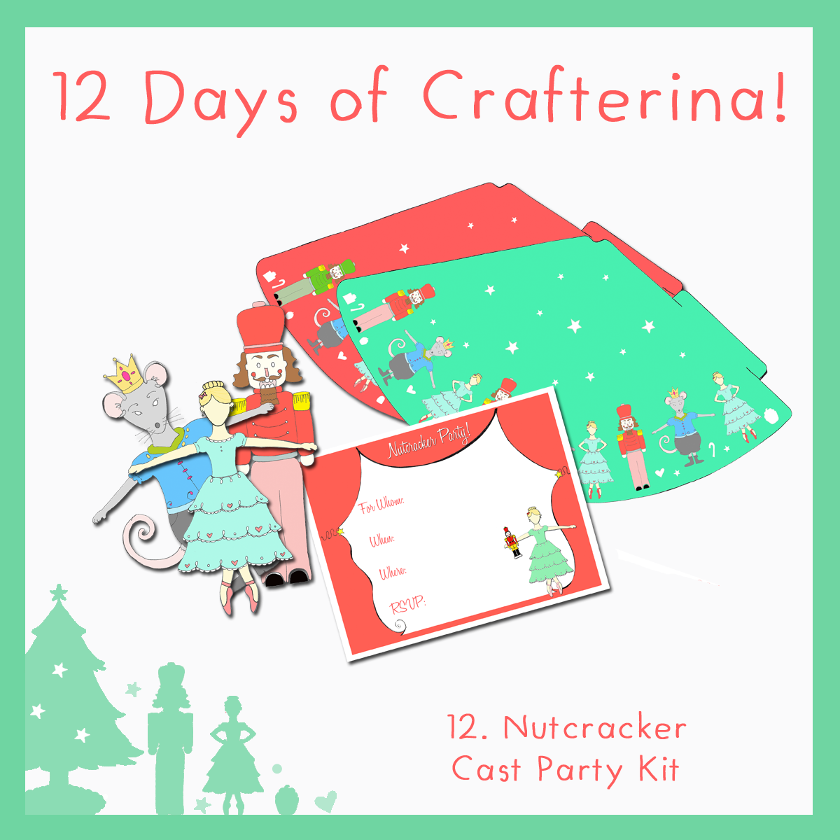 12 Gifts Of Christmas Cast.Celebrate With The Nutcracker Cast Party Kit For The 12 Days