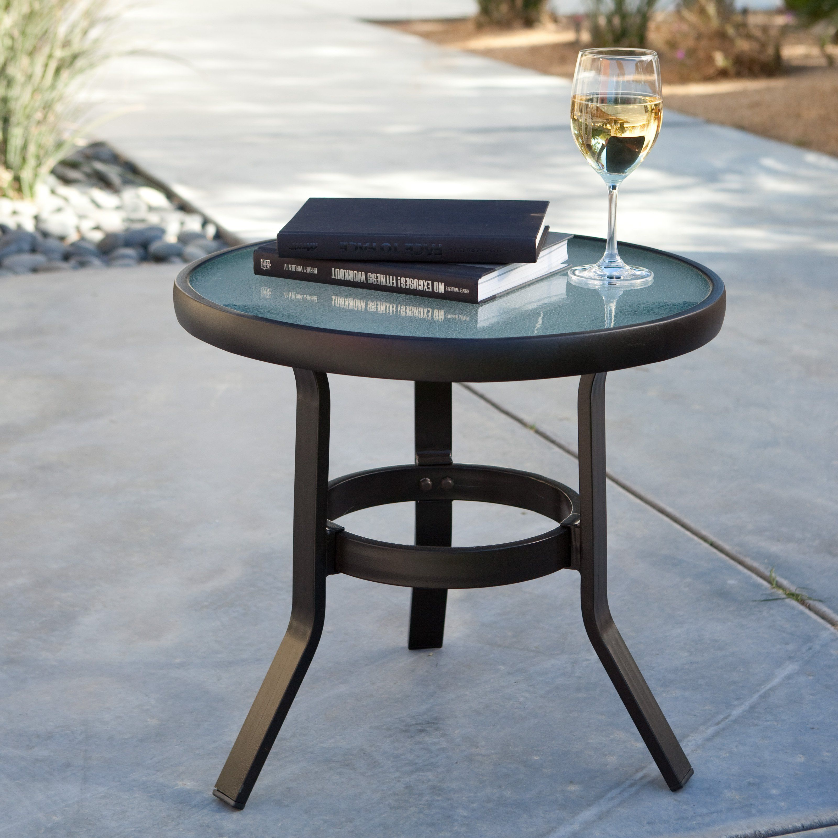 Coral Coast 20 in Patio Side Table Perfect for keeping snacks