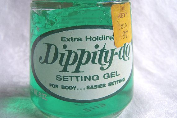 Vintage 8 Oz Dippity Do Green Hair Gel By Toni