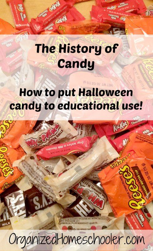 use halloween candy to learn about the history of candy i especially like the idea of a candy timeline