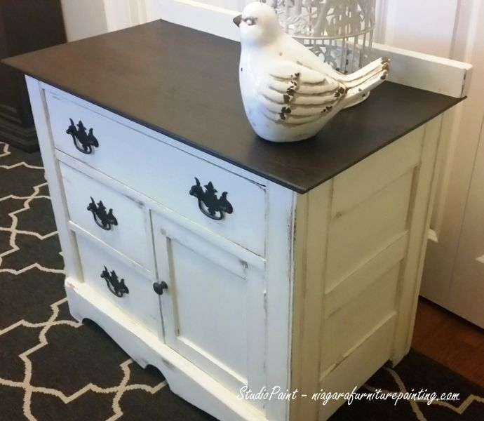 White Wash Gel Stain: Painted Refinished Antique Wash Stand
