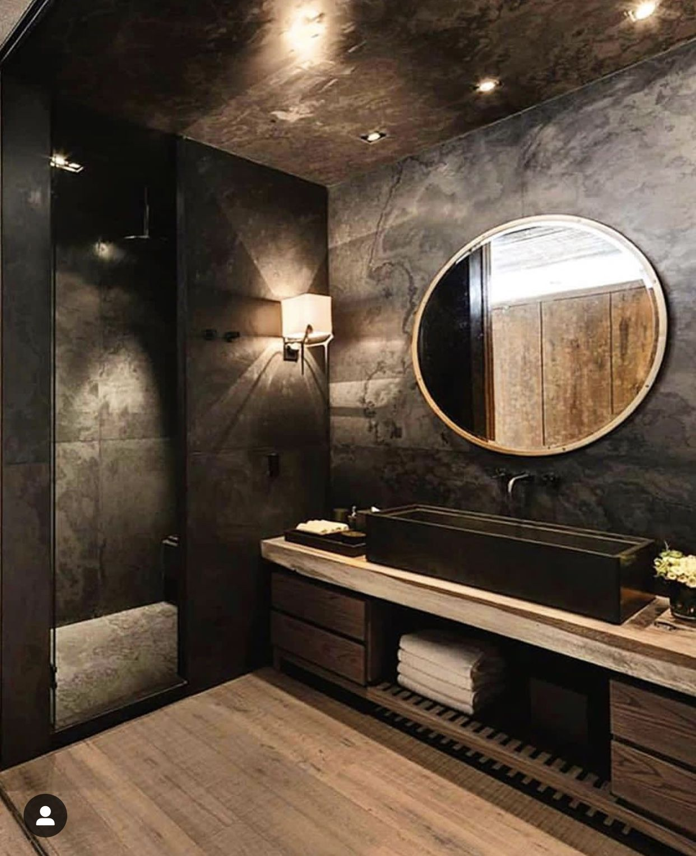 Pin By Julia On Home Ideas Bathroom Design Black Bathroom Design Luxury Bathroom Interior