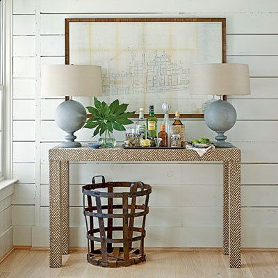 upholstered console table custom built design your own in any fabric