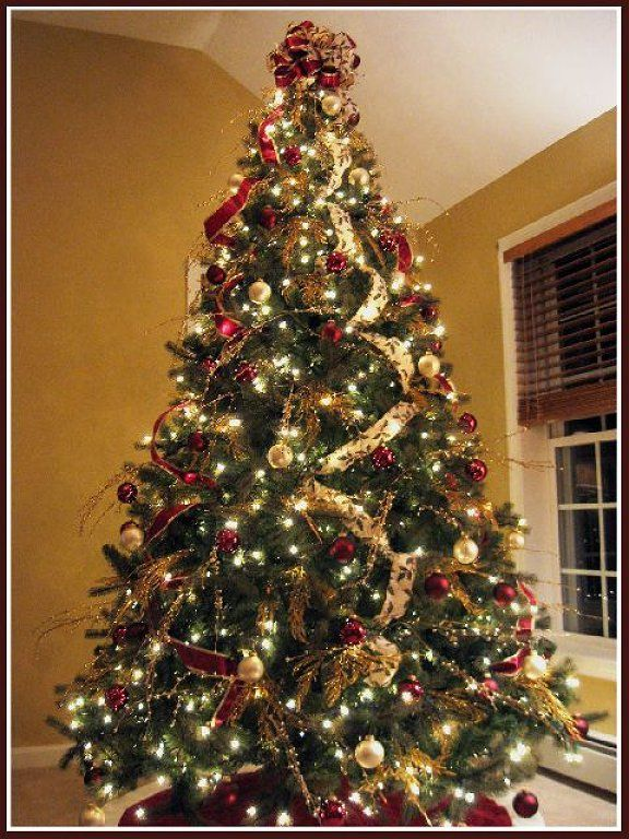 Mesh On A Christmas Tree