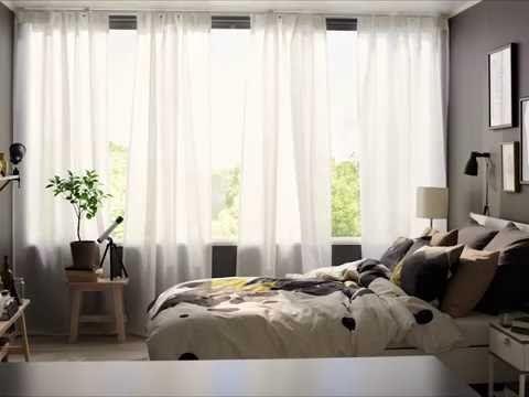 Vidga Curtain Rail System Youtube Ikea Panel Curtains Top