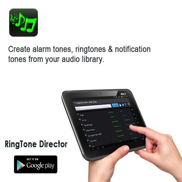 Ringtone Director Androidappexclusive Create Alarm Tones Ringtones Notification Tones From Your Audio Library Support Android Apps Free Android Apps App