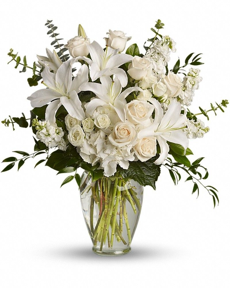 Cool dreams from the heart bouquet check more at http beautiful flowers such as white hydrangea spray roses and stock peach roses eucalyptus and more fill a tall glass vase izmirmasajfo