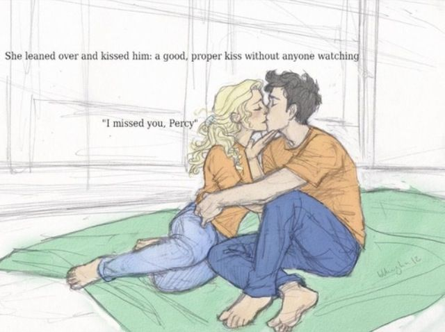 I think this was yesterday's challenge, so I'll be posting today's too. Day 25) Percabeth in the stables. Or their reunion. Or when Percy saved Annabeth at Fort Sumpter. Or when he fell-...never mind, that's too sad.