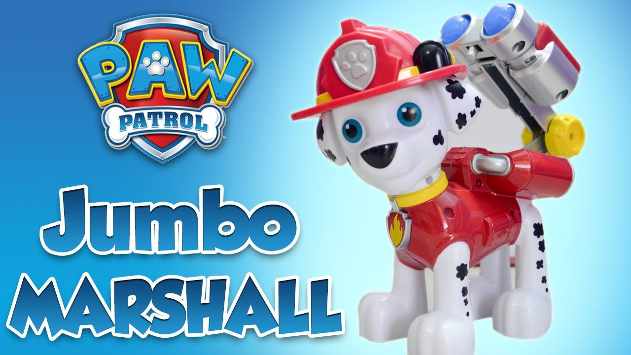 Paw Patrol Jumbo Action Pup MARSHALL Nickelodeon Toy Review By Kids Toys  And Crafts