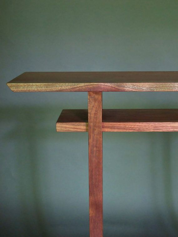Hall Table Tall Narrow Side Table Walnut Console Entry