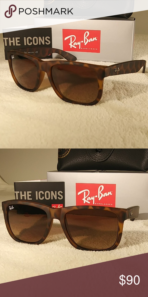 d8774b86eb Ray-Ban Justin Tortoise Shell Brown RB4165 Justin sunglasses are the  coolest look in the