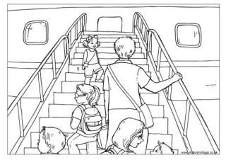 Car Trip Colouring Page Airplane Coloring Pages Coloring Pages