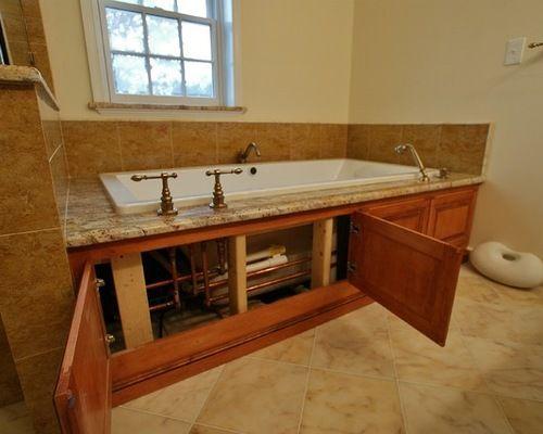 Tub Access Panel Ideas Pictures Remodel And Decor Badewanne Umbauen Whirlpool Badewanne Badezimmer Renovieren