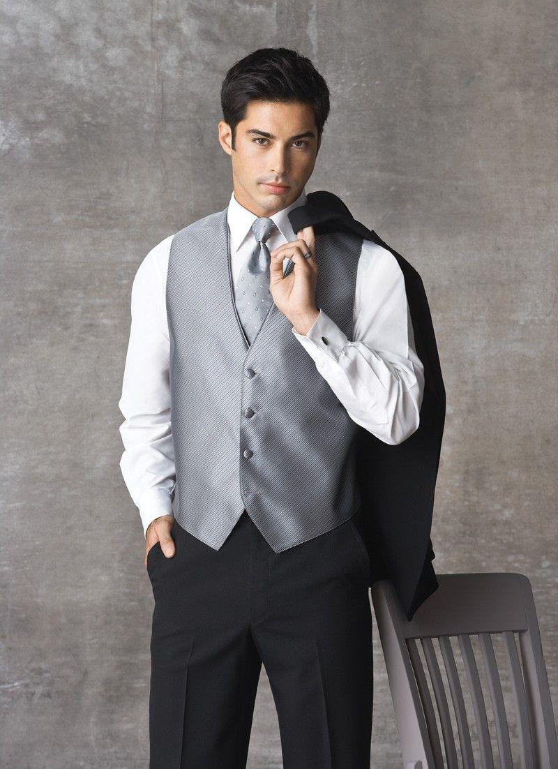 JJewell @Dwayne Black Tuxedo with Gray/Silver Tie and Vest | Mr ...
