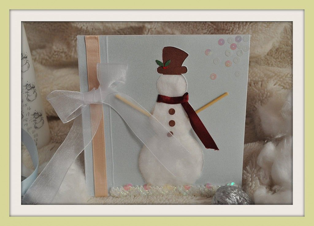 Manualidades. Tarjeta para la Navidad. Postal navideña hecha a mano ...