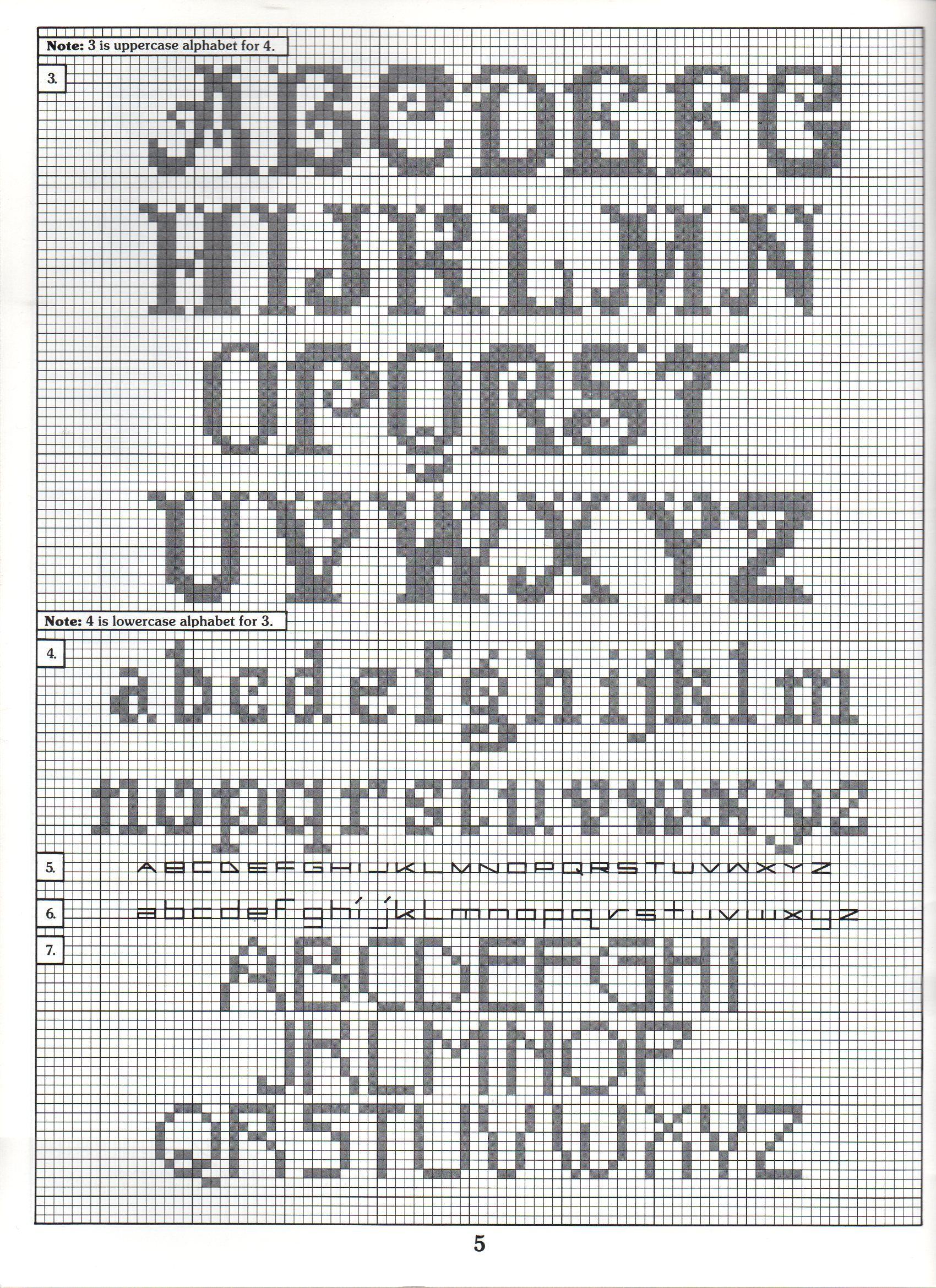 Crochet Cursive Letters
