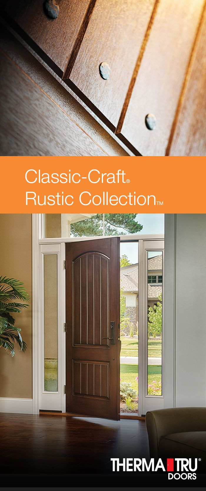 Classic craft rustic collection premium fiberglass doors for Therma tru classic craft american style collection