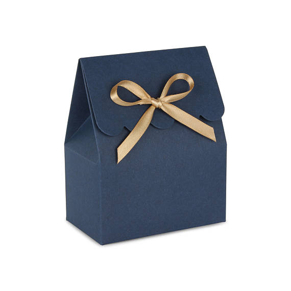 Favor Bo Gold And Blue Favour Box Bags