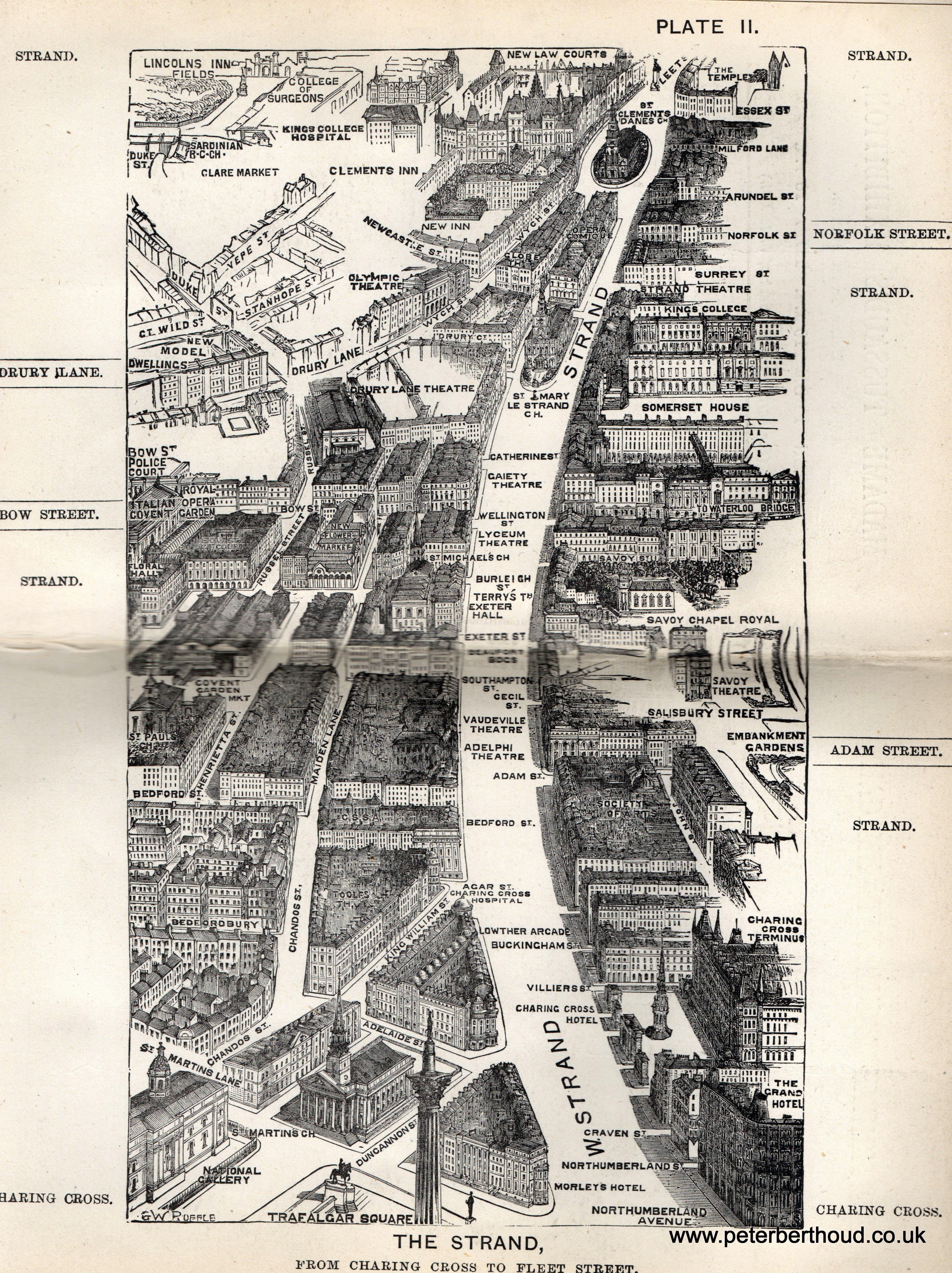 birds eye view maps of victorian london