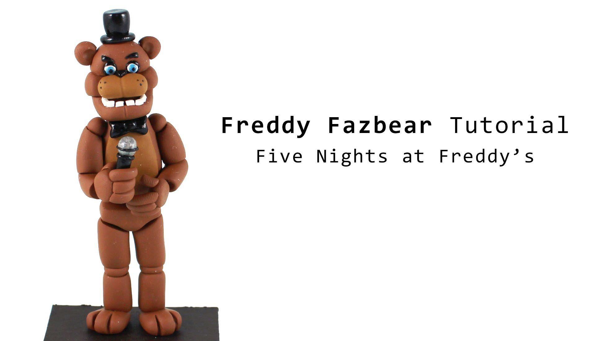 2017 05 freddy fazbear costume amazon - Freddy Fazbear From Five Nights At Freddy S Polymer Clay Tutorial