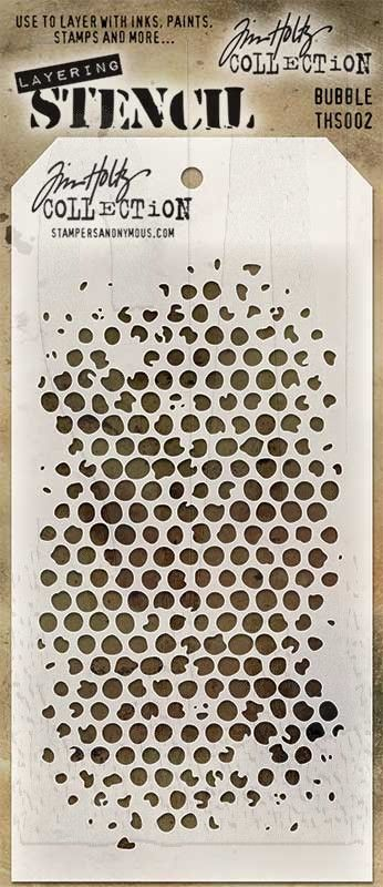 Tim Holtz Layering Stencil ~ BUBBLE ~ THS002 ~ Stampers Anonymous