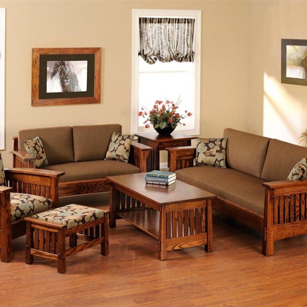 Wood Living Room Set | Wooden sofa designs, Wooden living ...