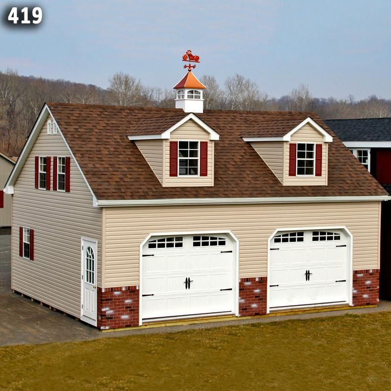 2 Car 2 Story Garage Horizon Structures 2 story garage