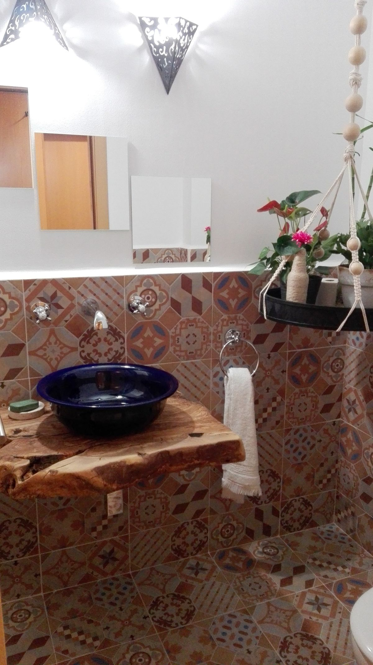 encimera de baño de madera de olivo   Encimeras baño ...