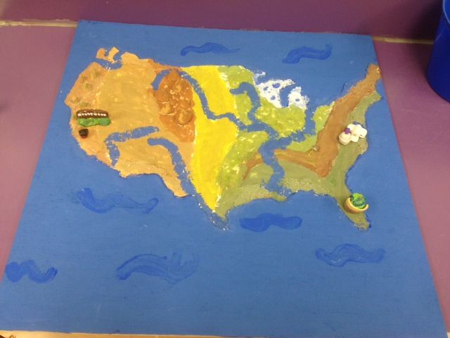 Salt Dough Maps Only Required To Show Appalachian And Rocky - Appalachian and rockies on us map