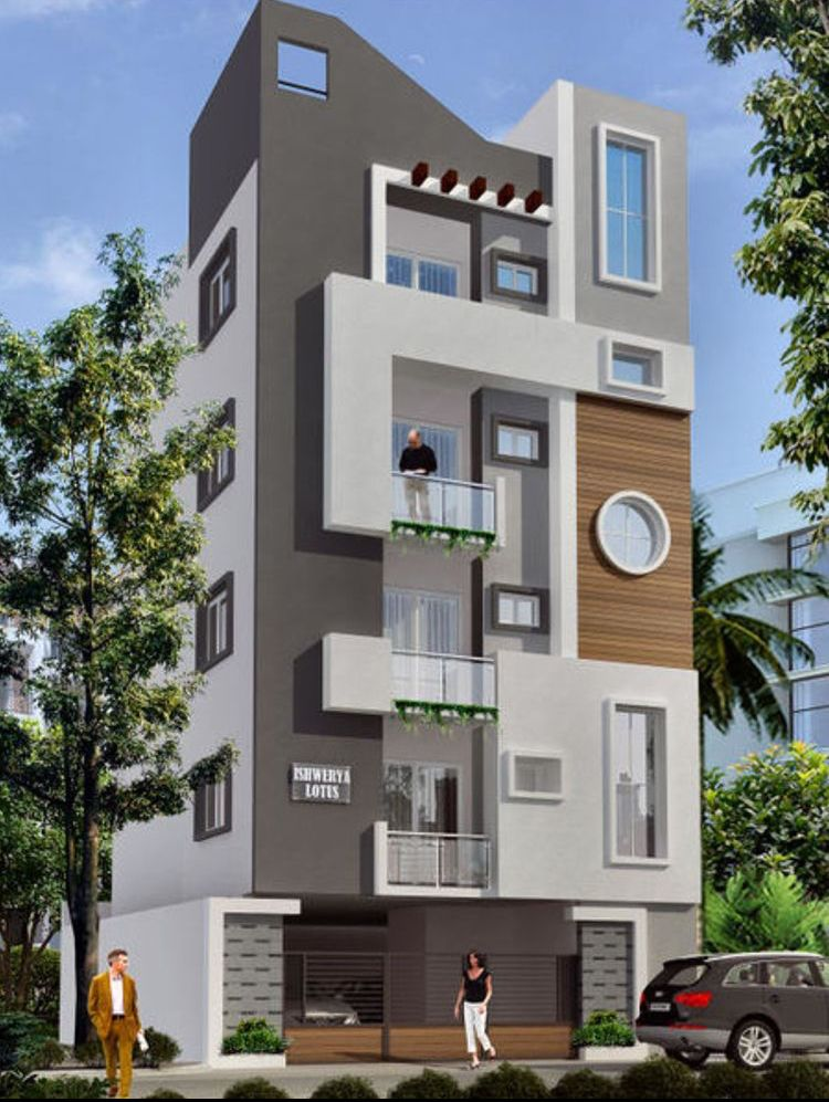 Five stories building exterior | Small house elevation ...