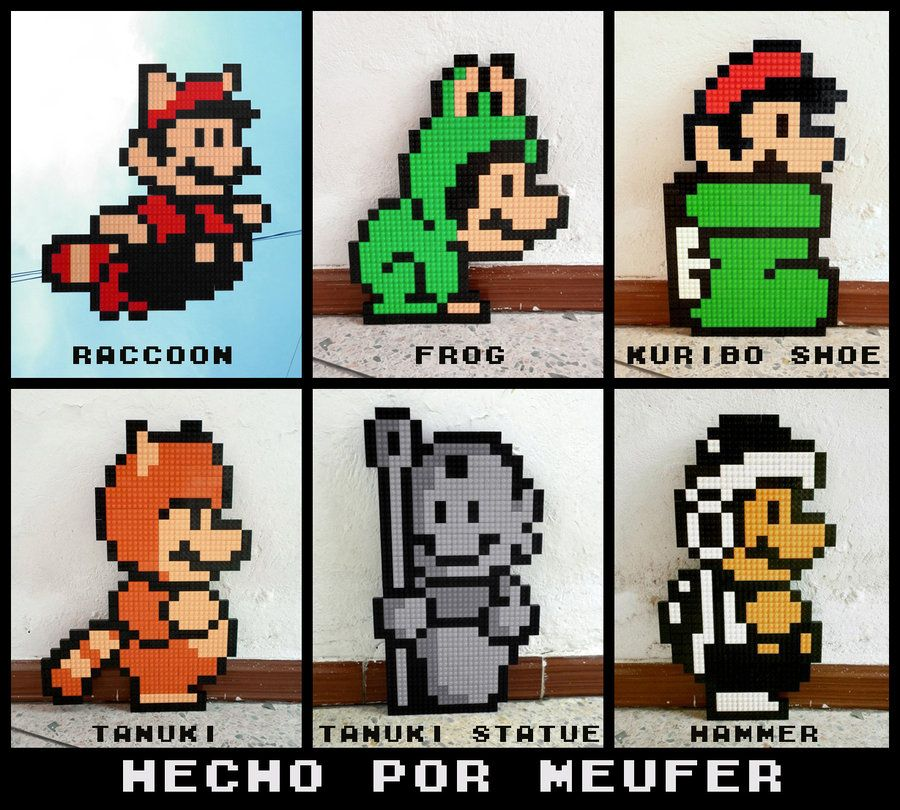 LEGO: Mario Bros Suits by Meufer deviantart com on