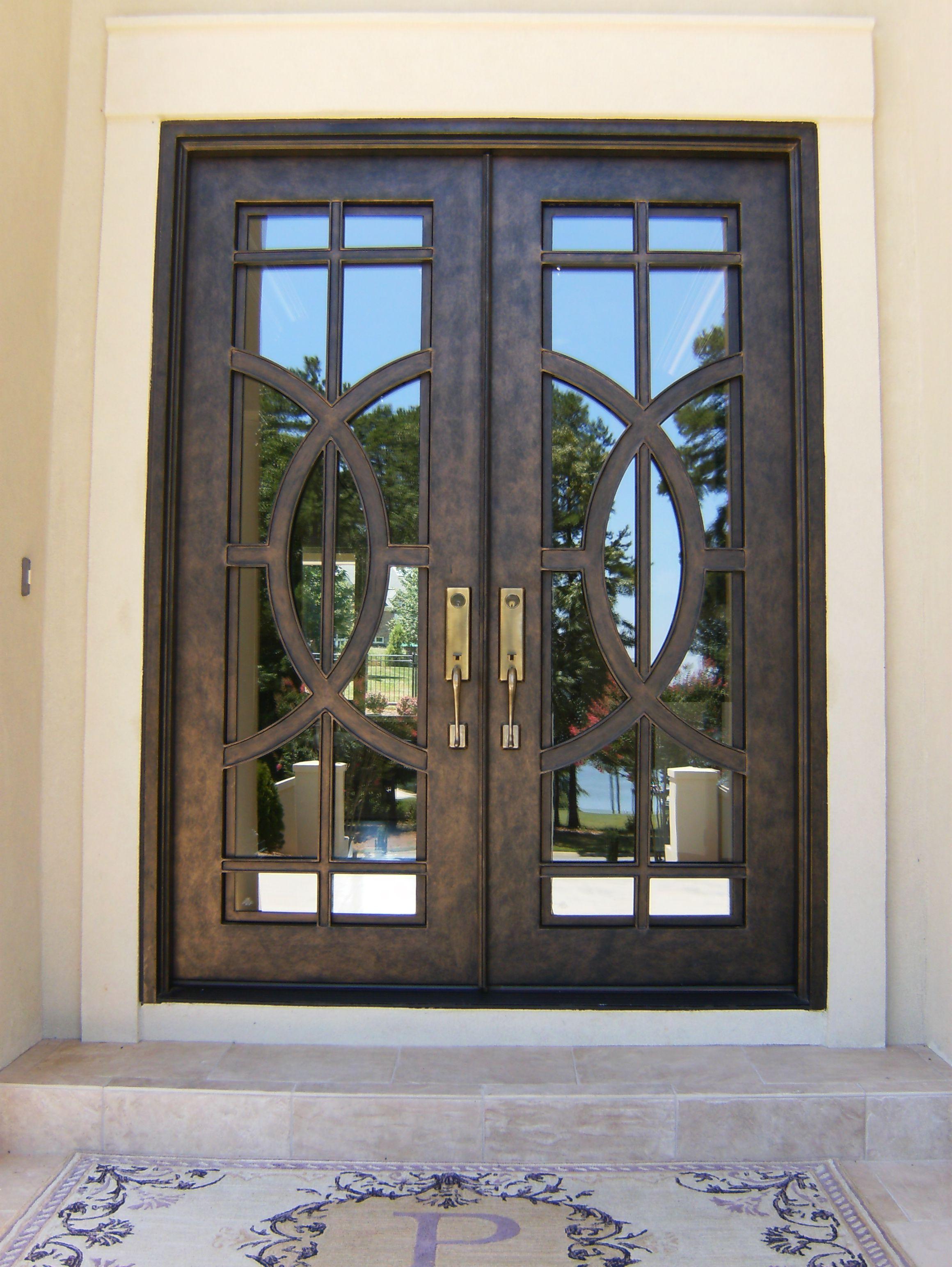 Arcadia Contemporary Custom Iron Door Custom Front Entry Doors Iron Doors Iron Door Design