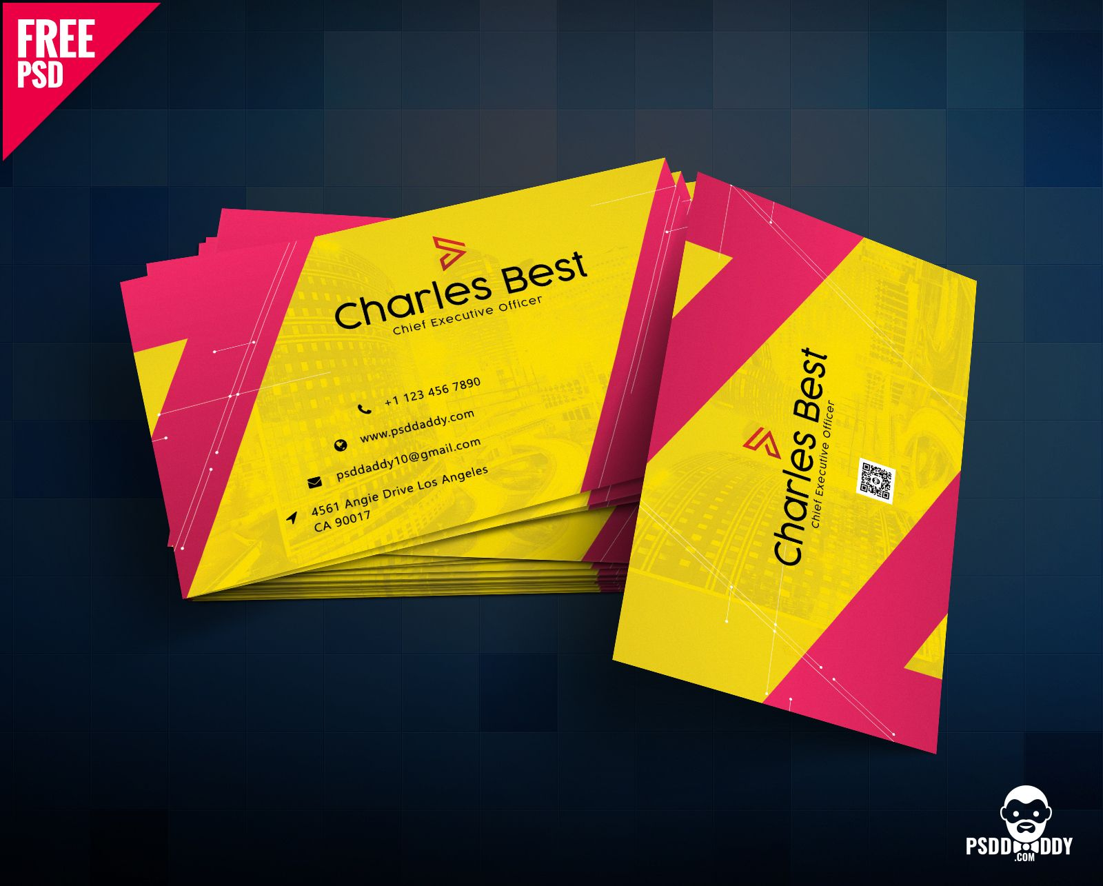 The Stunning Download Creative Business Card Free Psd Psddaddy With Reg Business Card Template Photoshop Business Card Psd Business Cards Creative Templates