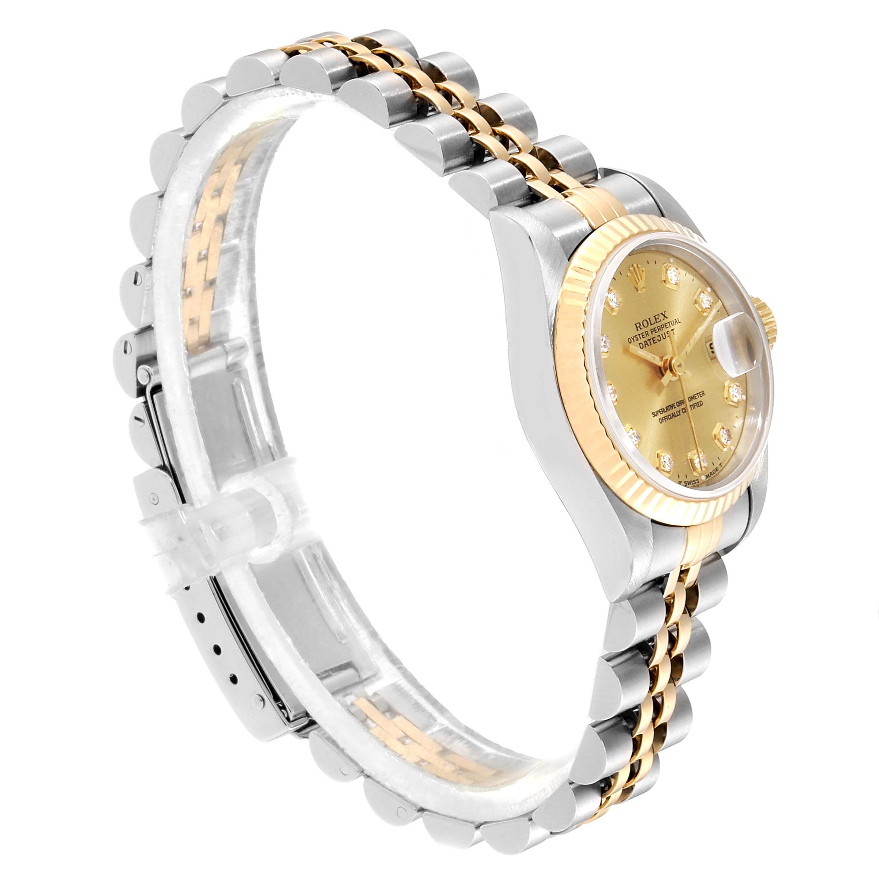 Rolex Datejust Steel Yellow Gold Diamond Dial La S Watch