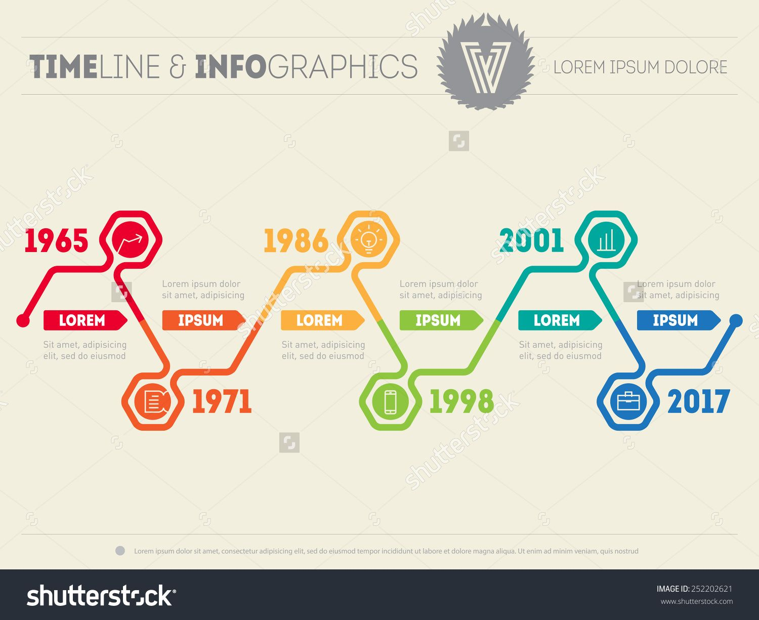 horizontal infographic timelines. vector web template for